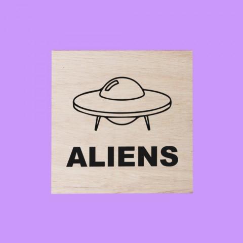 Quadrinho Aliens