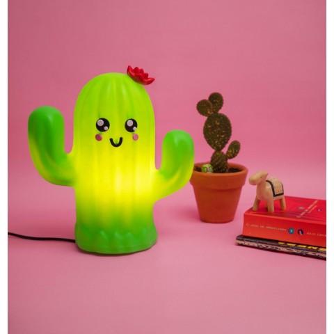 Luminária Cactus Flor Kawaii