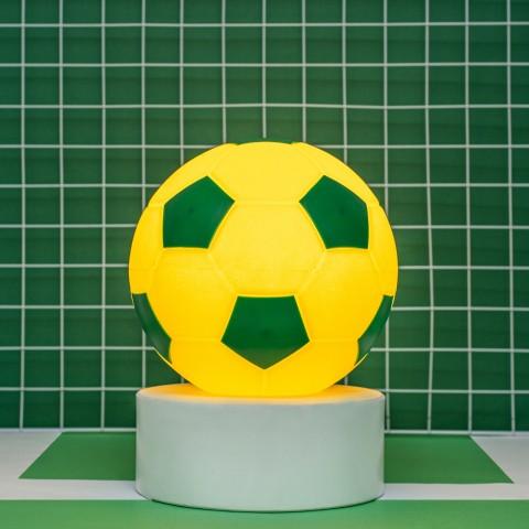 Luminária Bola de Futebol Verde e Amarela