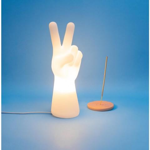 Luminária Mão Paz e Amor