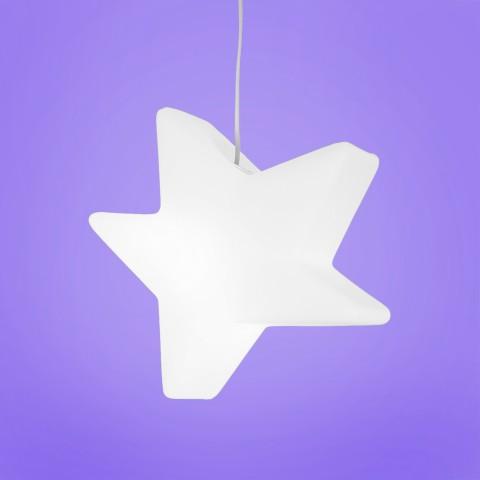 Luminária Pendente Estrela Estilizada