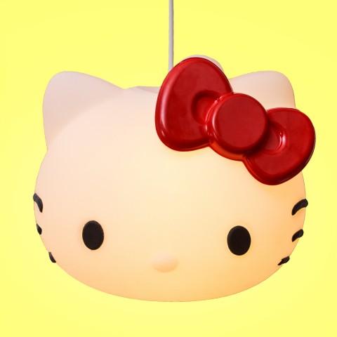Luminária Pendente Hello Kitty Laço Vermelho