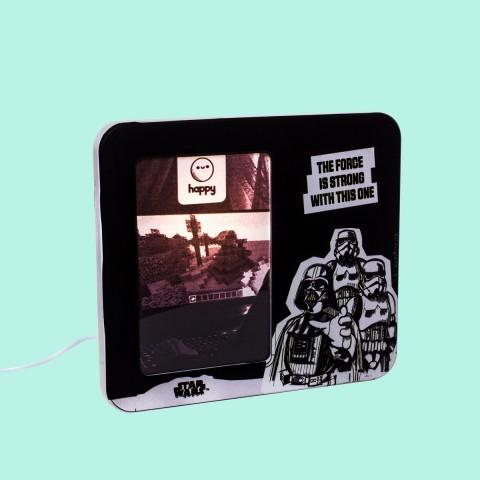 Luminária Porta Retrato Star Wars Force is Strong