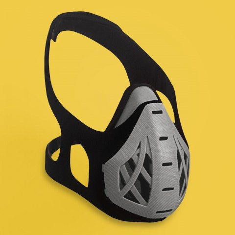 PureFit Máscara para Atividade Física Cinza tamanho M
