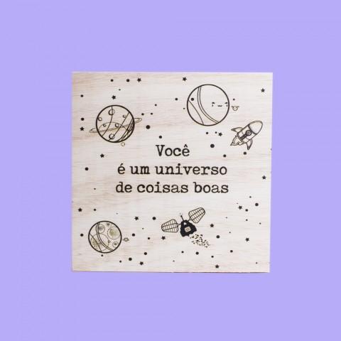 Quadrinho Universo de Coisas Boas