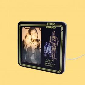 Luminária Porta Retrato Star Wars Long Time Ago